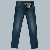 Slim-Fit Mid-Wash Jeans