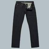 Drainpipe-Fit Dark Wash Selvedge Jeans