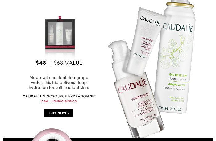 Made with nutrient-rich grape water, this trio delivers deep hydration for soft, radiant skin.
