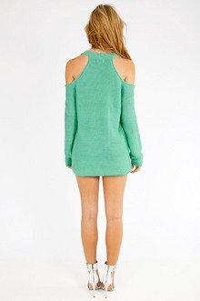 Cold Shoulder Oversized Sweater $40