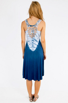 Regina Tie Dye Crochet Dress $37