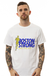 The Boston Strong Stride Tee in White