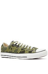 The Chuck Taylor All Star Lo Camo Print Sneaker in Olive