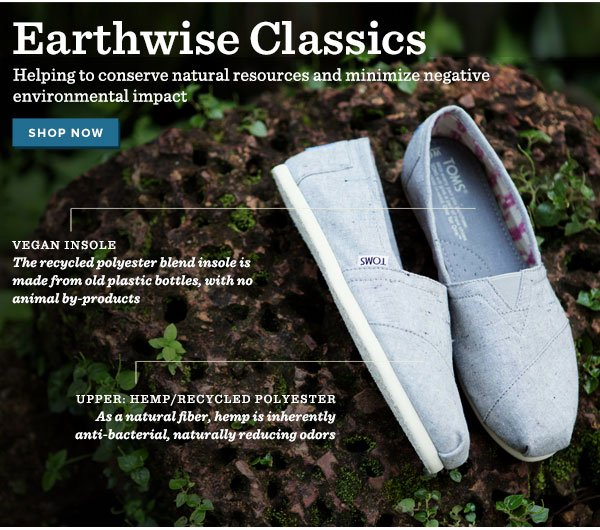 Earthwise Classics - helping to conserve natural resources and minimize negative environmental impact