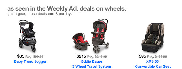 As seen in the Weekly Ad: deals on wheels.