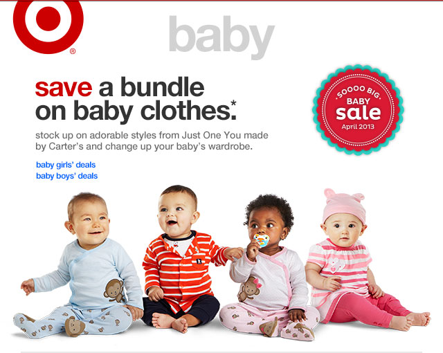 SAVE A BUNDLE ON BABY CLOTHES.*