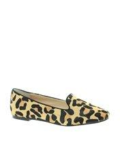 Dune Kozzie Leopard Print Slipper Shoe