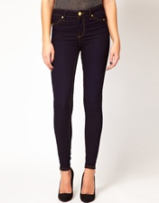 River Island Molly Jegging In Rinse Wash Denim