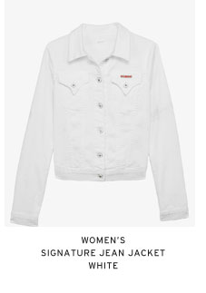 Women's Signature Jean Jacket - White