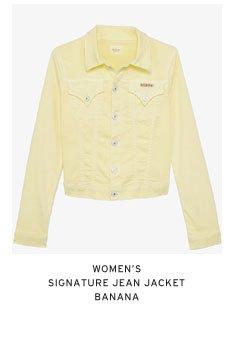 Women's Signature Jean Jacket - Banana