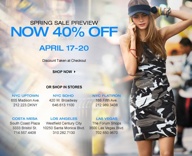 40% OFF SPRING SALE PREVIEW