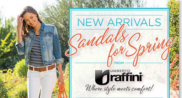 Enjoy the comfort and style of the NEW Raffini sandal arrivals for spring! Featuring premium leathers and contoured footbeds, shop over 60+ fashionable new styles perfect for all your warm weather endeavors. Shop now to find the best selection online and in-stores at The Walking Company.