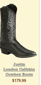 Justin London Calfskin Cowboy Boots