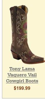 Tony Lama Vaquero Vail Cowgirl Boots