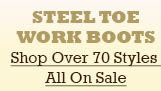 All Steel Toe Work Boots on Sale