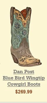 Dan Post Blue Bird Wingtip Cowgirl Boots