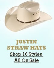All Justin Straw Hats on Sale