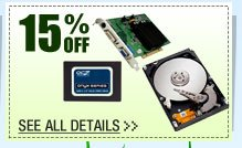 48 HOURS ONLY! 15% OFF SELECT REFURBISHED COMPONENTS!*