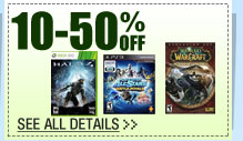 72 HOURS ONLY! 10-50% OFF SELECT PC GAMES & VIDEO GAME CONSOLES!*
