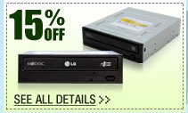 48 HOURS ONLY! 15% OFF ALL CD / DVD BURNERS