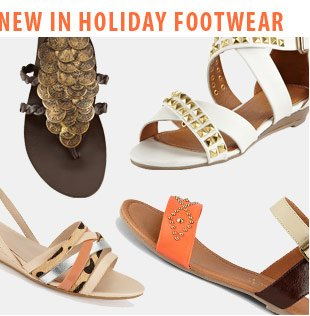 New In Holiday Footwear