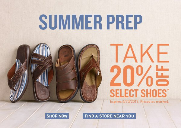 Take 20% Off Select Shoes