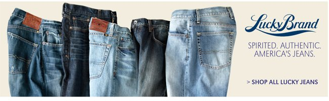 LUCKY BRAND | SPIRITED. AUTHENTIC. AMERICA'S JEANS. | SHOP ALL LUCKY JEANS