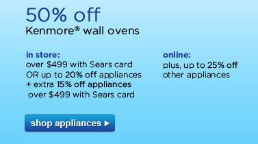 50% off Kenmore(R) wall ovens | shop appliances
