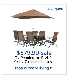 $579.99 sale | Ty Pennington Style™ Kesey 7-piece dining set | shop outdoor living