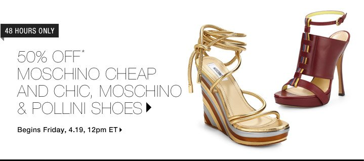 50% Off* Moschino Cheap And Chic & Pollini Shoes…Shop Now