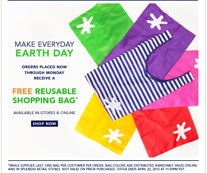 Free Reusable Tote in Honor of Earth Day!