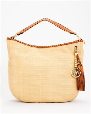 Michael Kors Bennet Soft Straw Large Shoulder Bag