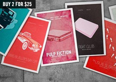 Shop Minimalist City & Movie Prints