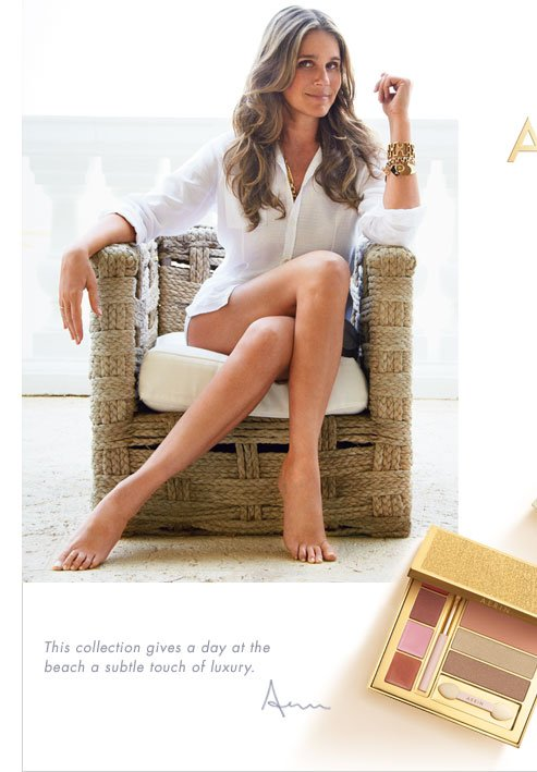 This collection gives a day at the beach an effortless touch of subtle luxury. Aerin