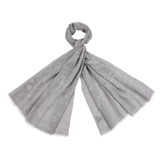 Grey Dreamy Ferns Pattern Scarf