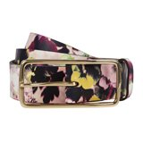 Hazy Pansies Print Jeans Belt