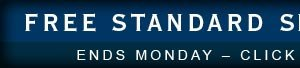 FREE STANDARD SHIPPING sitewide ENDS MONDAY – click any link to activate
