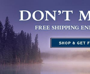 Don't miss out! free shipping ends Monday night.