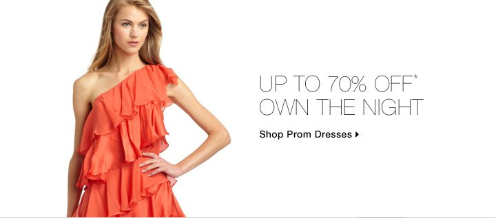 Up To 70% Off* Own The Night
