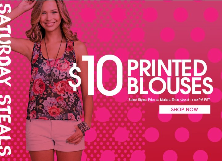Saturday Steals: $10 Printed Blouses