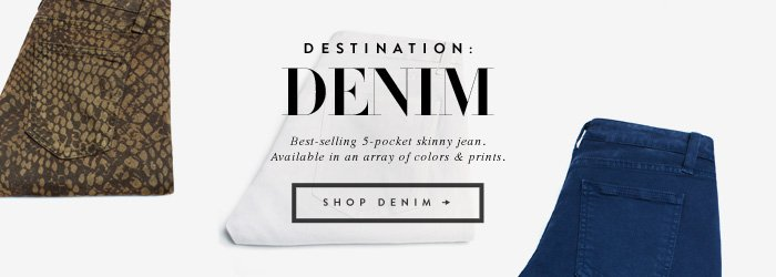 Destination: Denim - Best-selling 5-pocket skinny jean.