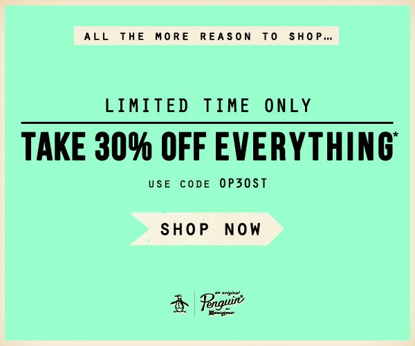 Take 30% Off Everything - For a Limited Time