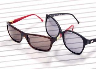 Sunglasses: Lacoste, Karl Lagerfeld, Calvin Klein