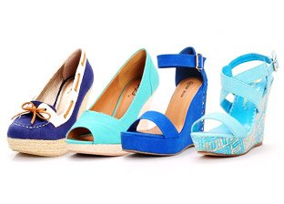 Color Trend: Shades of Blue Shoes