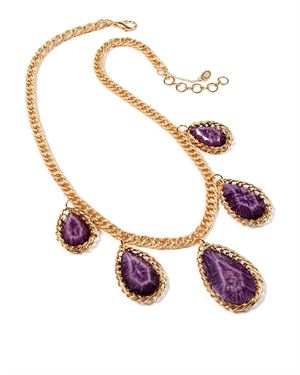 Amrita Singh Faceted Resin Stones Embellished Necklace