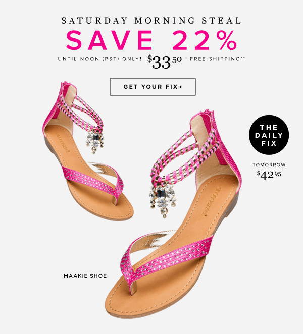 New Saturday Morning Steal! Grab This Sandal Before the Price Goes Up      Get Your Fix
