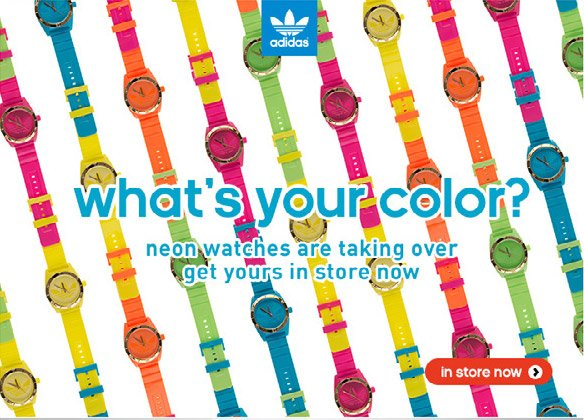 what's your color? neon watches are taking over, get yours in store now &raquo