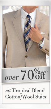 Over 70% Off* All Tropical Blend Cotton/Wool Suits