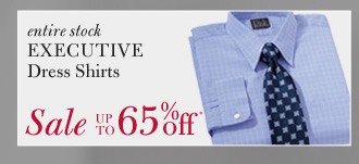 All Executive Dress Shirts - Up To 65% Off*
