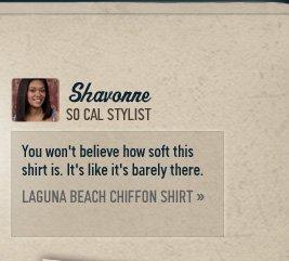 LAGUNA BEACH CHIFFON SHIRT